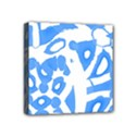 Blue summer design Mini Canvas 4  x 4  View1