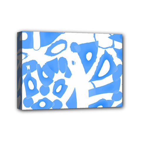Blue Summer Design Mini Canvas 7  X 5