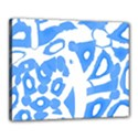 Blue summer design Canvas 20  x 16  View1