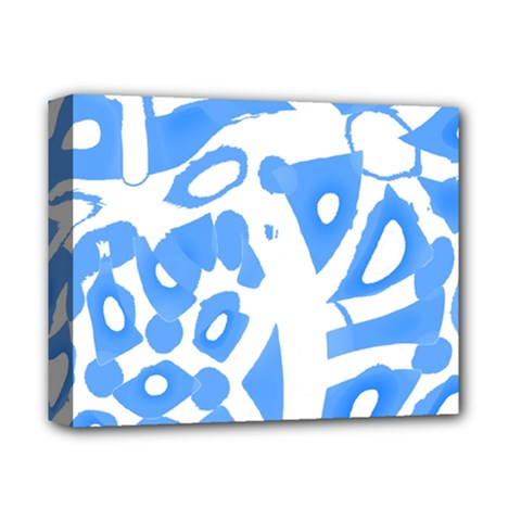 Blue summer design Deluxe Canvas 14  x 11