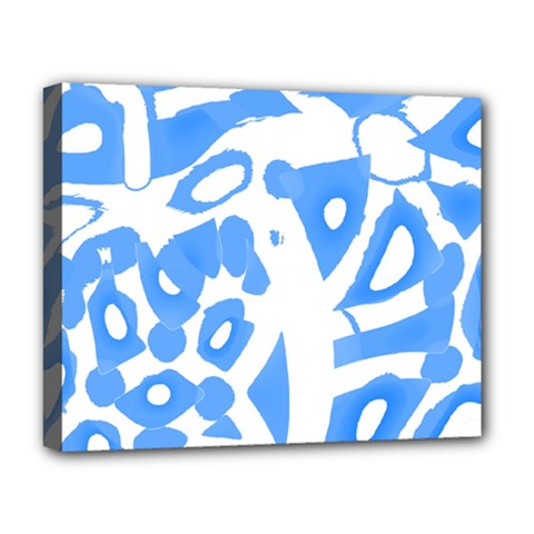 Blue Summer Design Deluxe Canvas 20  X 16