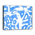 Blue summer design Deluxe Canvas 20  x 16   View1