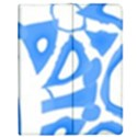 Blue summer design Apple iPad 2 Flip Case View1