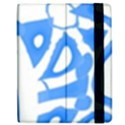 Blue summer design Apple iPad 2 Flip Case View2