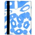 Blue summer design Apple iPad 2 Flip Case View3
