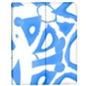 Blue summer design Apple iPad Mini Flip Case View1