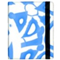 Blue summer design Samsung Galaxy Tab 10.1  P7500 Flip Case View3