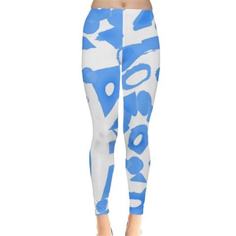Blue summer design Leggings