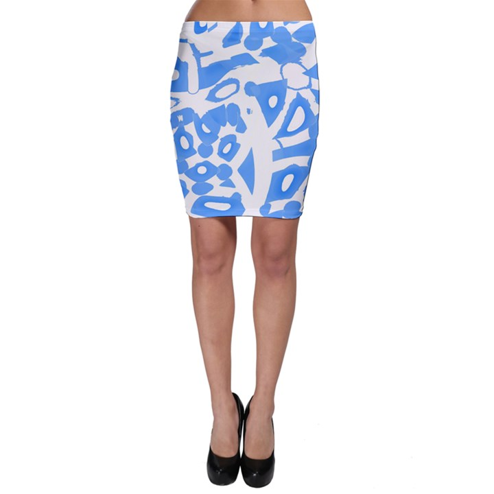 Blue summer design Bodycon Skirt