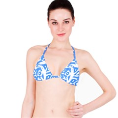 Blue Summer Design Bikini Top