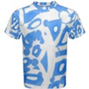 Blue summer design Men s Cotton Tee View1