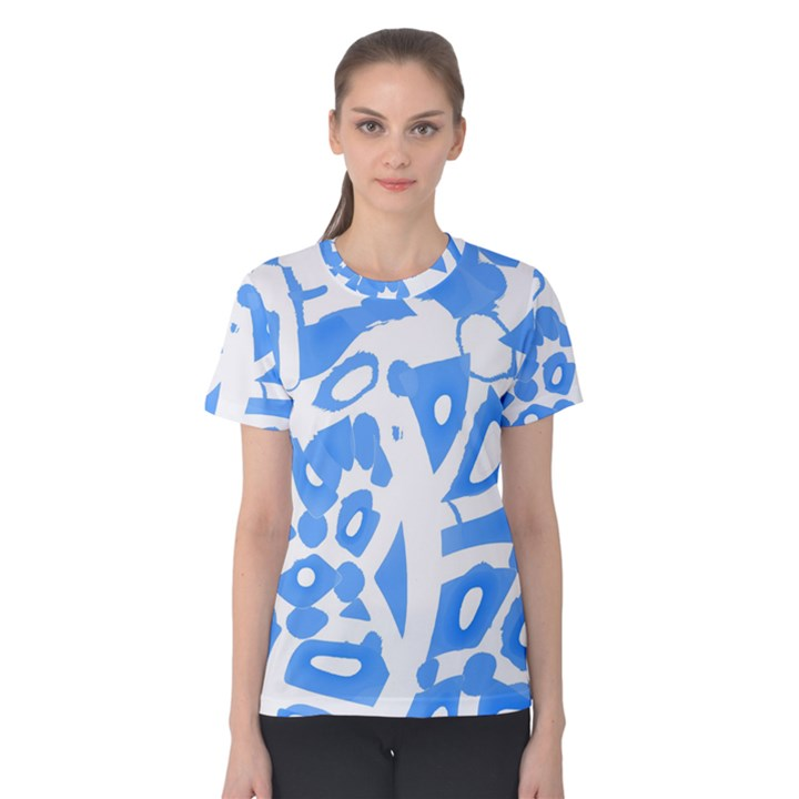 Blue summer design Women s Cotton Tee