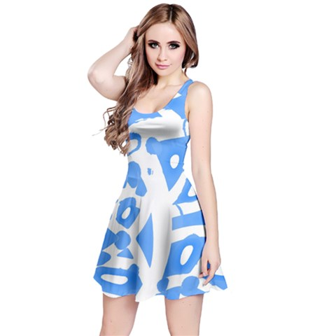 Blue summer design Reversible Sleeveless Dress