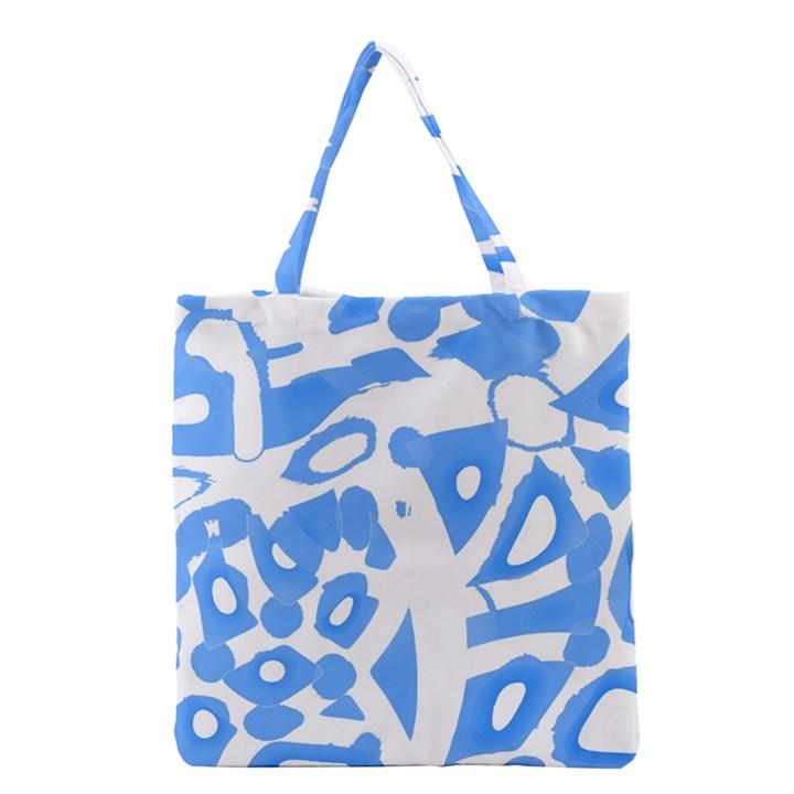Blue summer design Grocery Tote Bag