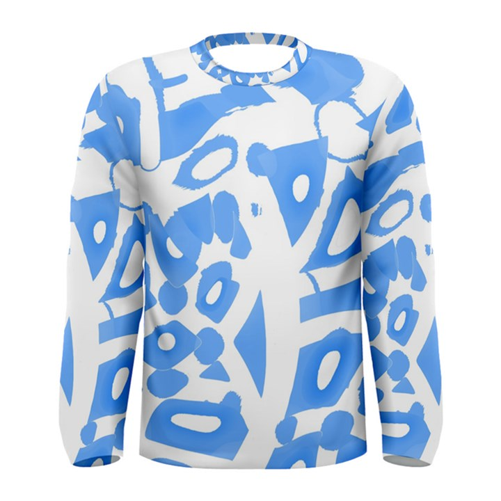 Blue summer design Men s Long Sleeve Tee