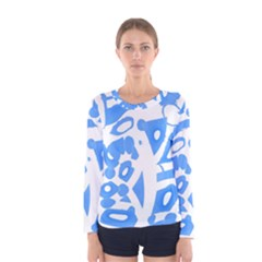 Blue summer design Women s Long Sleeve Tee