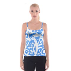 Blue summer design Spaghetti Strap Top