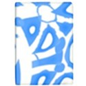 Blue summer design iPad Air 2 Flip View1