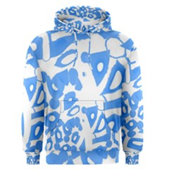 Blue summer design Men s Pullover Hoodie