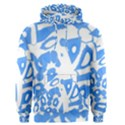 Blue summer design Men s Pullover Hoodie View1
