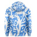 Blue summer design Men s Pullover Hoodie View2