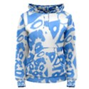 Blue summer design Women s Pullover Hoodie View1