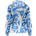 Blue summer design Women s Pullover Hoodie View2