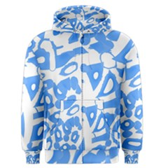 Blue summer design Men s Zipper Hoodie