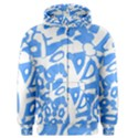 Blue summer design Men s Zipper Hoodie View1