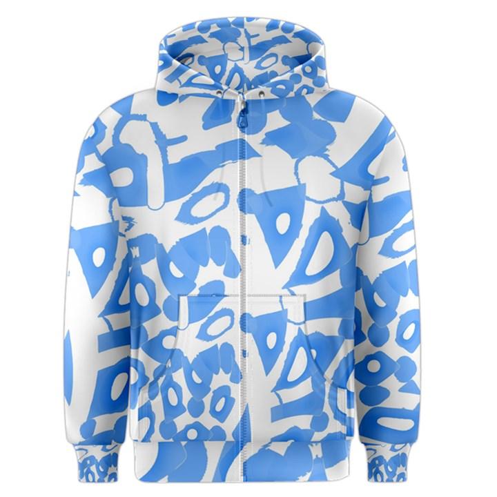 Blue summer design Men s Zipper Hoodie