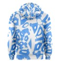 Blue summer design Men s Zipper Hoodie View2