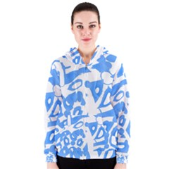 Blue Summer Design Women s Zipper Hoodie