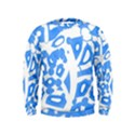Blue summer design Kids  Sweatshirt View1