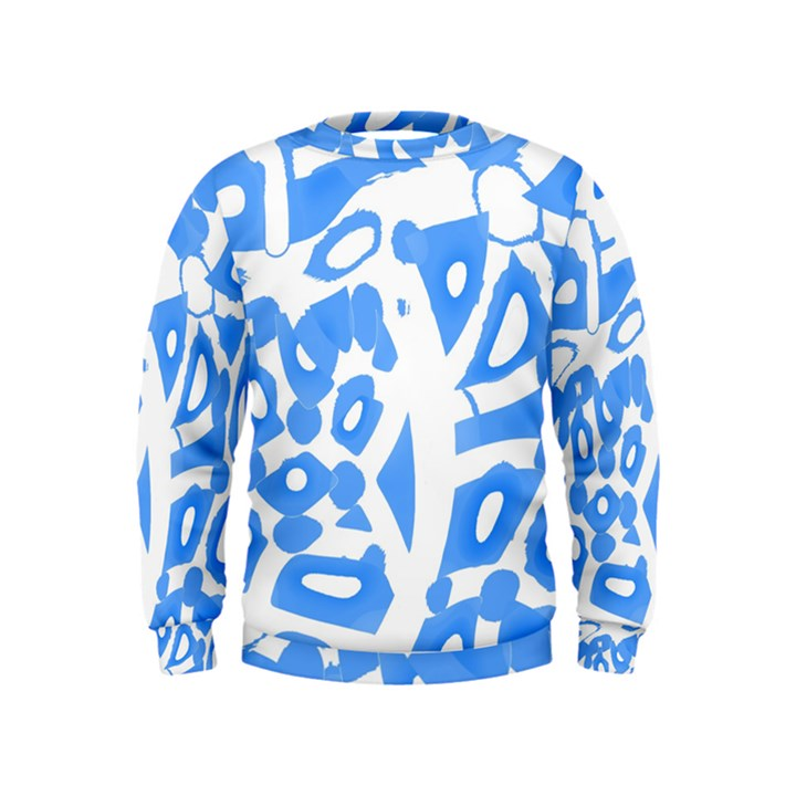 Blue summer design Kids  Sweatshirt