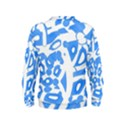Blue summer design Kids  Sweatshirt View2