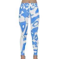 Blue summer design Yoga Leggings