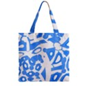 Blue summer design Zipper Grocery Tote Bag View1