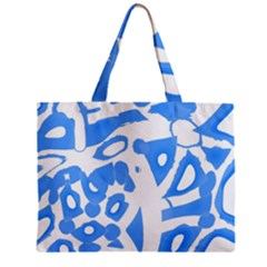 Blue Summer Design Zipper Mini Tote Bag