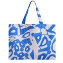 Blue summer design Zipper Mini Tote Bag View2