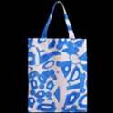 Blue summer design Zipper Classic Tote Bag View2