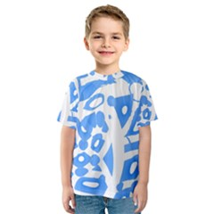 Blue summer design Kids  Sport Mesh Tee