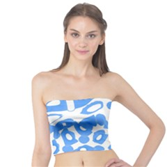 Blue summer design Tube Top