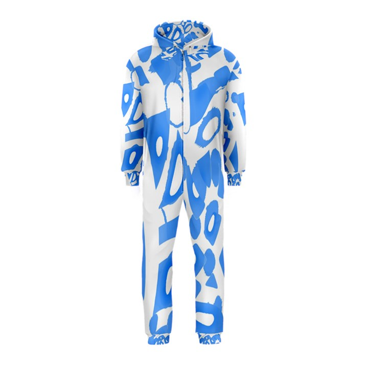 Blue summer design Hooded Jumpsuit (Kids)