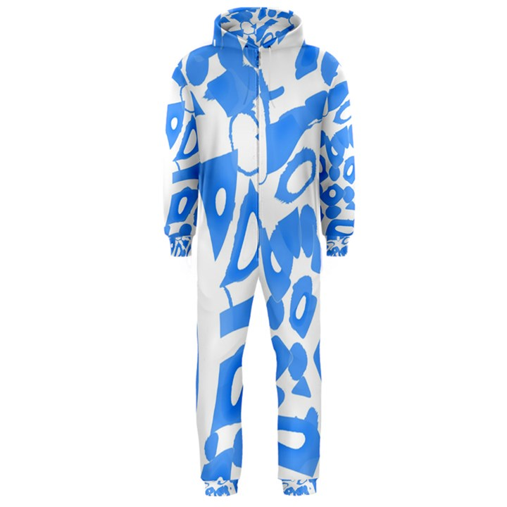 Blue summer design Hooded Jumpsuit (Men)