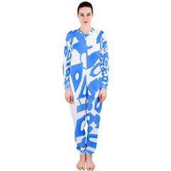 Blue summer design OnePiece Jumpsuit (Ladies)