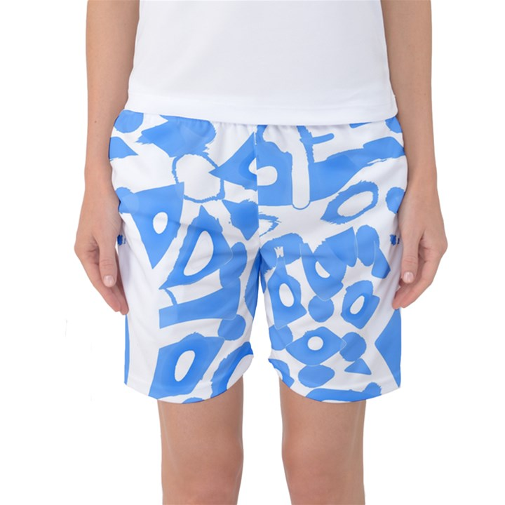 Blue summer design Women s Basketball Shorts