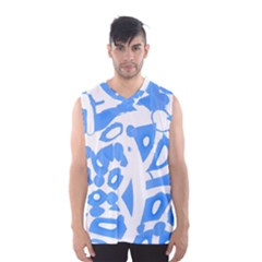 Blue summer design Men s Basketball Tank Top