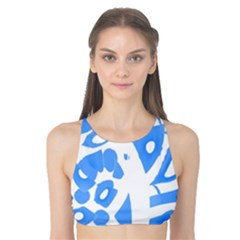 Blue summer design Tank Bikini Top