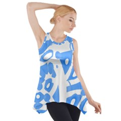 Blue summer design Side Drop Tank Tunic
