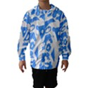 Blue summer design Hooded Wind Breaker (Kids) View1